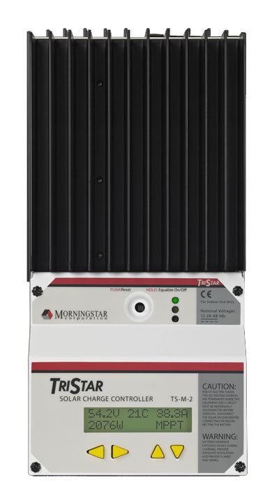 Morningstar Tristar Charge Controller with Meter PWM 12V-24V-48V 60 Amp - TS-60-M