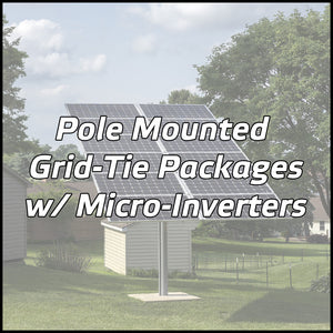 Pole Mounted Solar Packages w/ Micro-Inverters