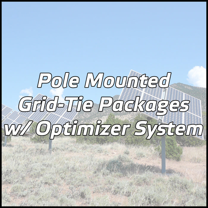 Pole Mounted Solar Packages w/ Optimizer System
