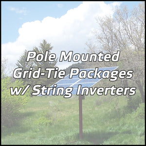 Pole Mounted Solar Packages w/ String Inverters