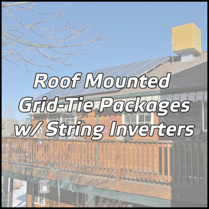 Roof Mounted Solar Packages w/ String Inverters