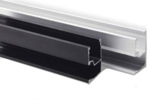 SnapNrack  Standard Rail Set, 122 inch, Black (Box of 2) - 015-09816