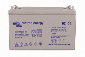 Victron Battery 12V 110Ah AGM Deep Cycle Battery (M8) - BAT412101085