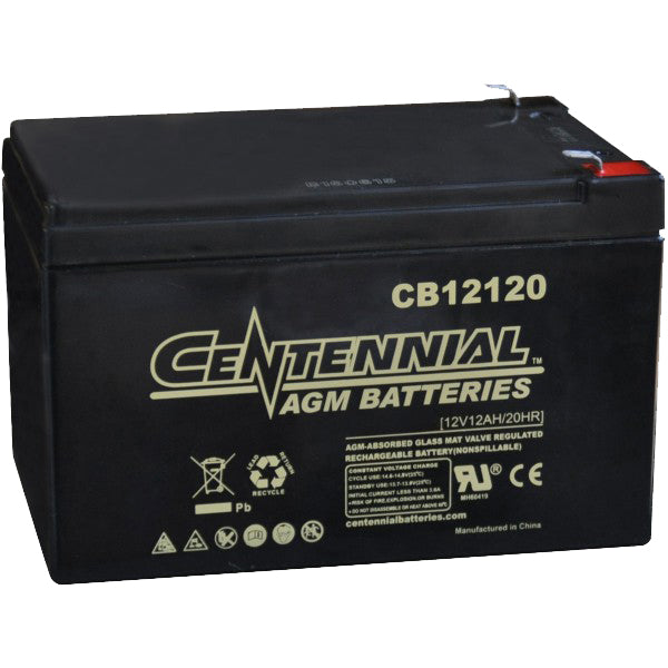 Centennial AGM 12V 12Ah Sealed Lead Acid battery CB12120F2