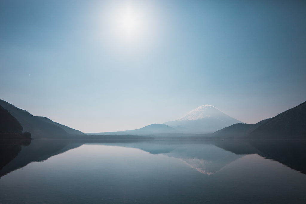 Mt. Fuji from lake Motosuko, Japan