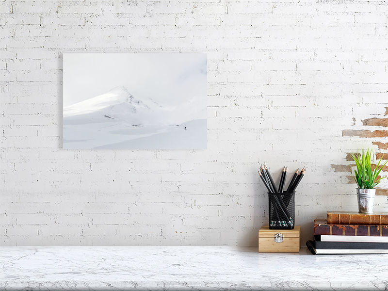Wall Art Print of a skier on a mountain