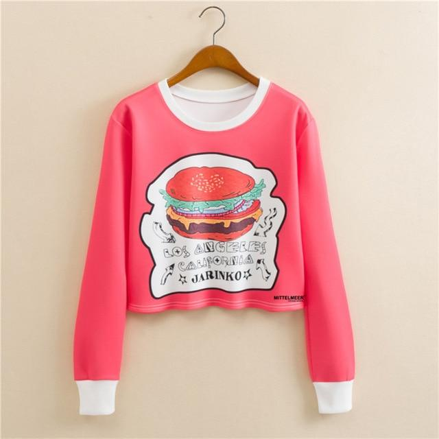 New Design European style round neck pullover long sleeve color space printingwwetoro-wwetoro