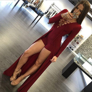 Women 2015 Hot fashion full sleeve sexy bodysuit rompers women long v-neckwwetoro-wwetoro