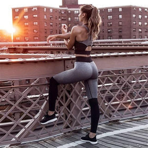 2017 Women 2 Piece Set Fitness Clothes Workout For Female High Waistwwetoro-wwetoro