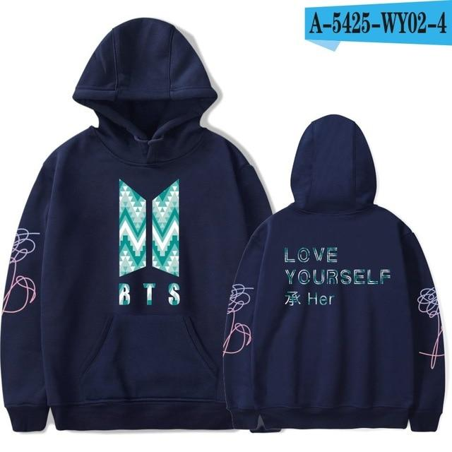 LOVE YOURSELF BTS Kpop Harajuku Sweatshirt Bangtan Boys Fashion Hoodies Women/menwwetoro-wwetoro