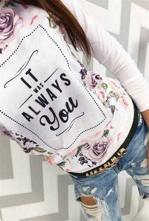 New Fashion Women Long Sleeve Casual Hoodies Tops Autumn Spring Flowers Printingwwetoro-wwetoro