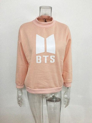 BTS 2018 New Fashion Female Sweatshirts Turtleneck Long Sleeve Ladies Sweatshirtswwetoro-wwetoro