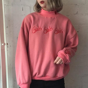 Fashion Women sweatshirts autumn winter 2018 korean style new pullover cute pinkwwetoro-wwetoro