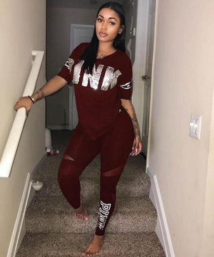 2018 Womens Tracksuit Sets Sexy Casual black V Neck 2 Piece Shortwwetoro-wwetoro