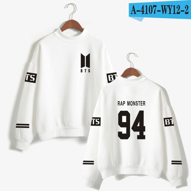 BTS Love Yourself kpop Capless Sweatshirts Bangtan boy outwear Hip-Hop Women andwwetoro-wwetoro