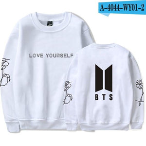 BTS Hoodie Kpop Love Yourself Round Neck Sweatshirt Women Hoodies Autumnwwetoro-wwetoro