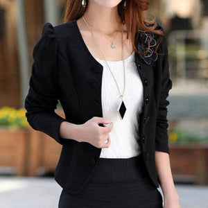 Spring Autumn Elegant Women Blazers Candy Color Jacket Long Sleeve Slim Suitwwetoro-wwetoro