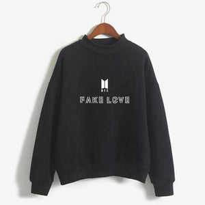 Fake Love Women Sweatshirt Hoodies BTS Love Yourself Tear Hot Sale Printwwetoro-wwetoro