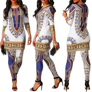 African Print clothes For Women Dashiki Traditional African 2 Two Piece Setwwetoro-wwetoro