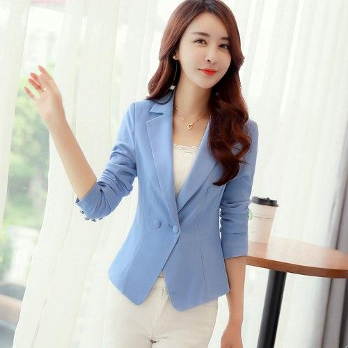 Elegant Autumn Long Sleeve Women Blazer Candy Color Blazer Jacket Suit Jacketswwetoro-wwetoro