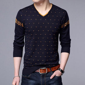 Mens Sweaters Wool Pullover Men Brand Clothing Casual V-Neck Sweater Men Dotwwetoro-wwetoro