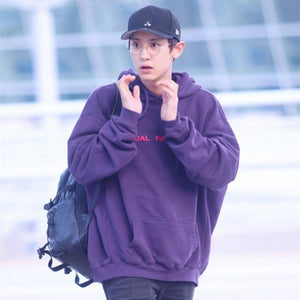 New Kpop EXO Chanyeol Cap Hoodie Sweatershirt Airport Fashion VIXX Ravi Purplewwetoro-wwetoro