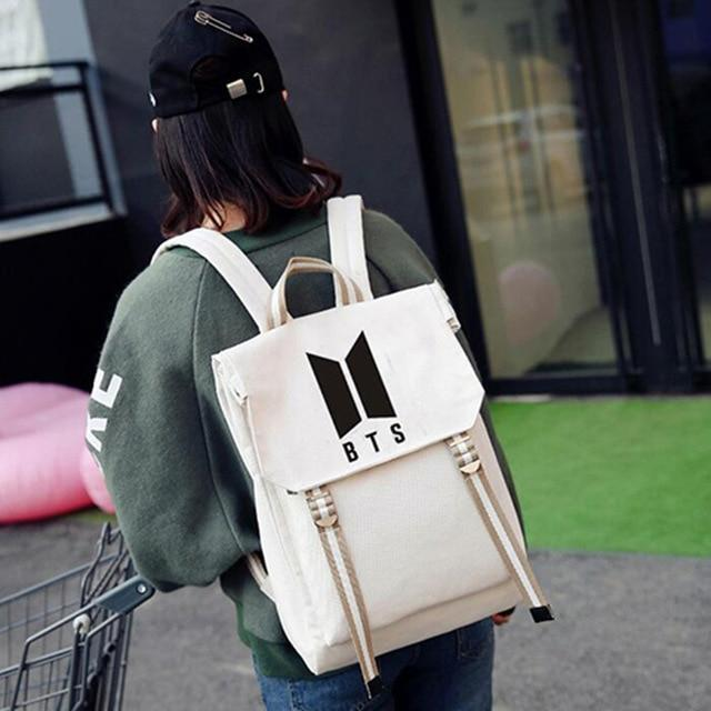 Kpophome New BTS BT21 Bangtan Boys Group The Same Canvas Studentswwetoro-wwetoro