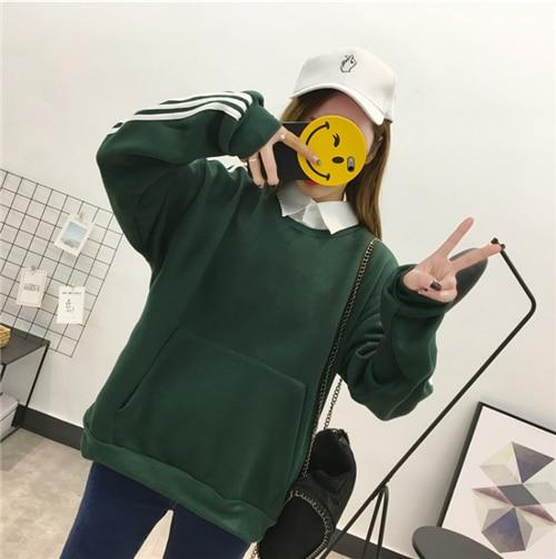 BTS Hoodie Women Sweatshirts Moletom Feminino Kpop Hoodies Cloths Fake Two Piecewwetoro-wwetoro
