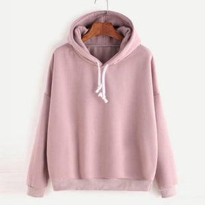 Men Women Pullover Hoodie Unisex Hip-hop Solid Color Plain Sweatshirt Teenagerwwetoro-wwetoro