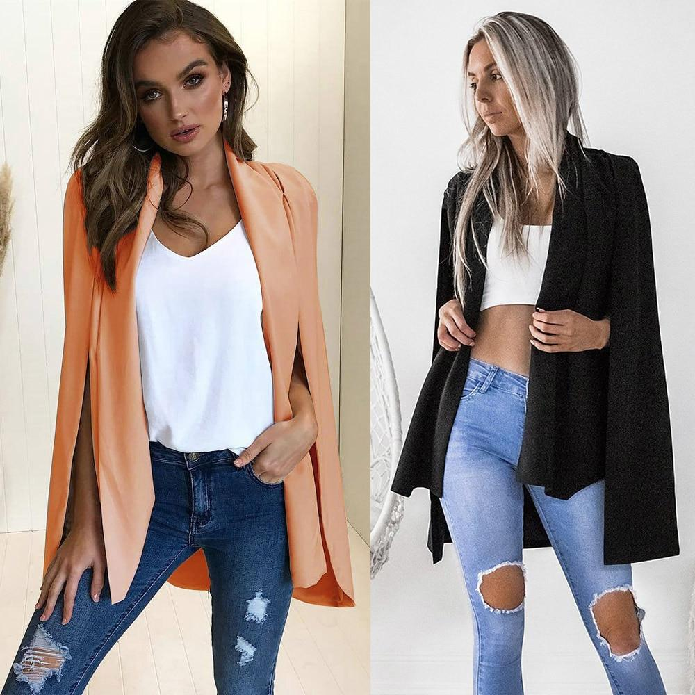 2 Colors Fall Fashion Jacket Coat Blazer Women Loose Sexy Casual OLwwetoro-wwetoro