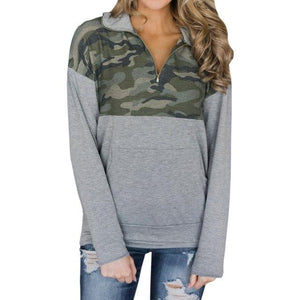 Women's Camouflage Hoodies Sweatshirts Zipper Winter Army Pullover Long Sleeve Autumn Sweatshirtwwetoro-wwetoro