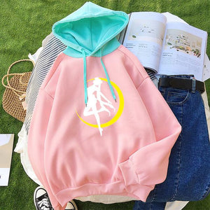 2018 Hoodies Women Casual Lady Fleece Sweatshirt Long Sleeve Loose Autumn Winterwwetoro-wwetoro