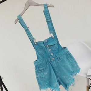 2018 Hot Vogue Women Clothing Denim Playsuits Cotton Strap Rompers Shorts Loosewwetoro-wwetoro