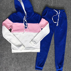 Patchwork Button Drawstring 2 Two Piece Set Top And Pants Elastic Tracksuitwwetoro-wwetoro
