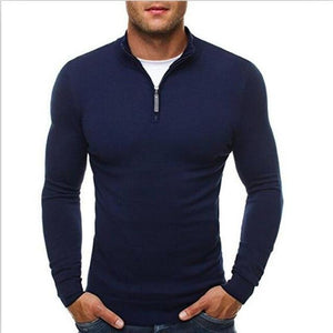 2018 Spring mens sweater pullovers Simple style cotton knitted V neck sweaterwwetoro-wwetoro