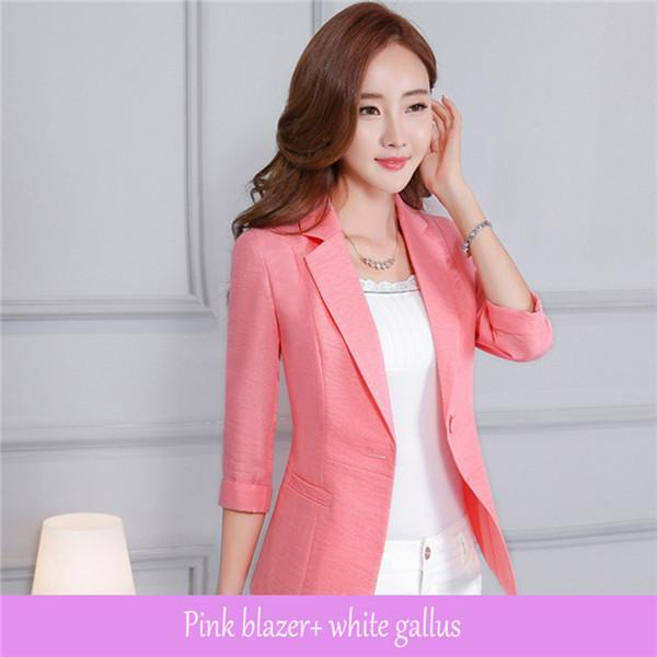 Women blazer three quarter sleeve one button ladies blazers casual temperament v-neckwwetoro-wwetoro