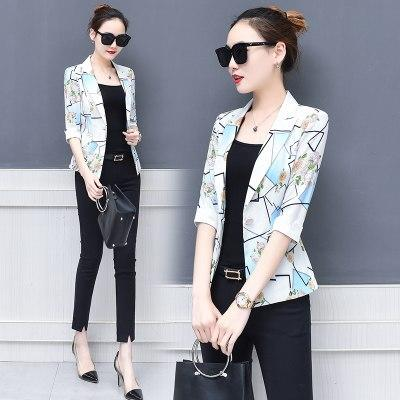 Toppies Women 2018 Floral Printed Blazers Fashion Women Suit Blazer and Jacketswwetoro-wwetoro