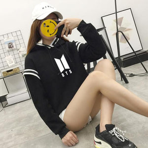 Korean Fashion Kpop BTS Member Hoodie Bangtan Boys Hooded Pullovers Tops Harajukuwwetoro-wwetoro