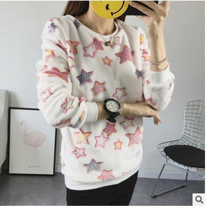 New Brand 2017 Autumn Winter Loose Women's Hoodies Top Face Smiling Expressionwwetoro-wwetoro