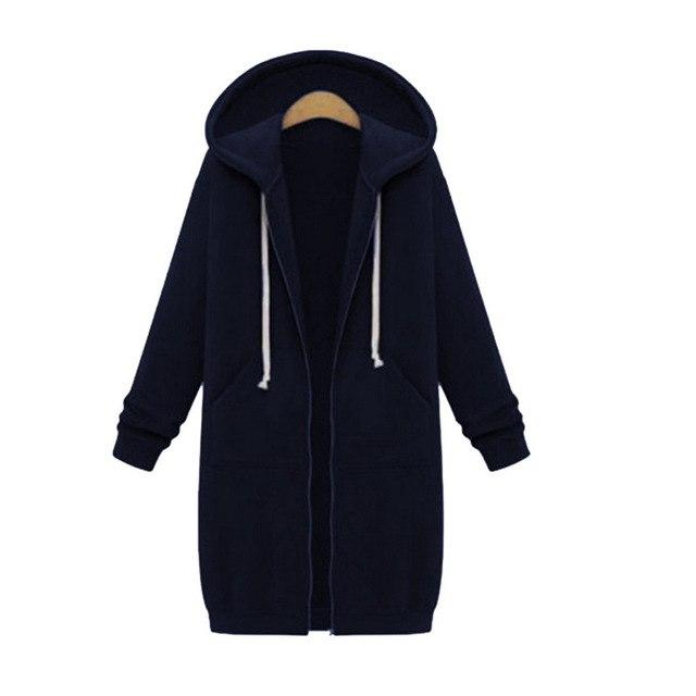Plus Size 5XL Oversized Hoodies Sweatshirt Women Overcoats Plus Velvet Hooded Hoodieswwetoro-wwetoro