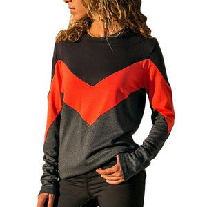 Autumn Women Hoodies Sweatshirts Long Sleeve Casual Sweatshirt Patchwork Sweatshirt Femmewwetoro-wwetoro