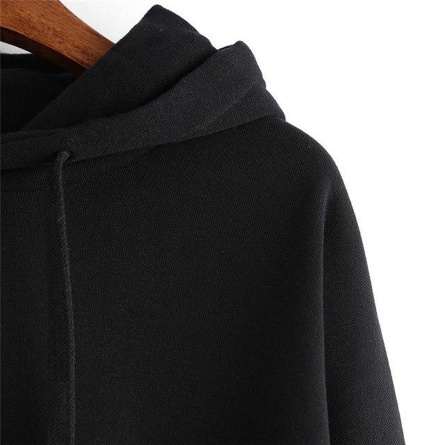 Fashion Women Ladies Long Sleeve Hoodie Sweatshirt Jumper Hooded Solid Pullover Casualwwetoro-wwetoro
