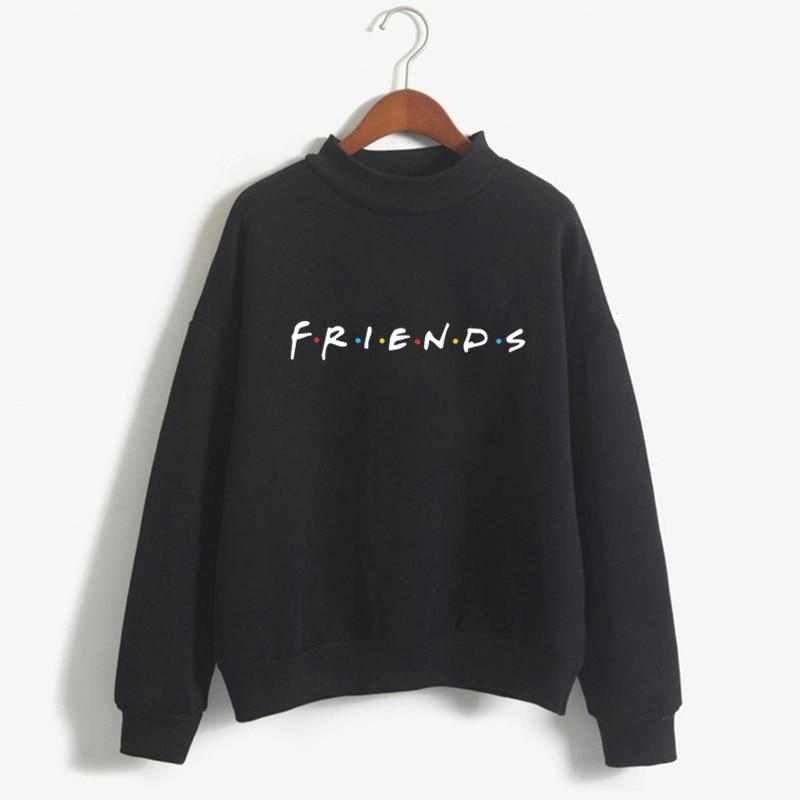 2018 Winter Female Black Hoodies Women Long Sleeve Sweatshirts Long Sleevewwetoro-wwetoro