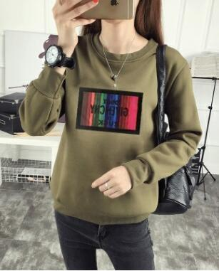 Autumn Winter New Style Hoodies Casual Woman Letters Print Long Sleeve Owwetoro-wwetoro