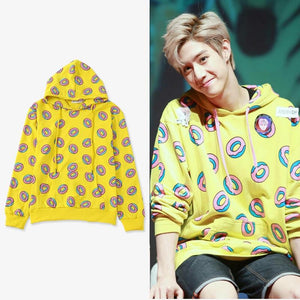 2018 Fashion Women Hoodies Mark Just Right Donut Hoodie Loose Printed Pulloverwwetoro-wwetoro
