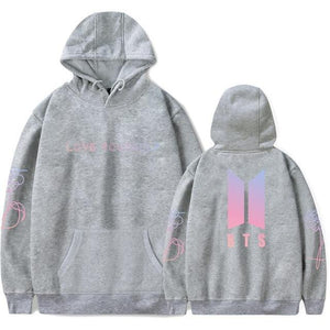 drop ship BTS Bangtan Boys Sweatshirt Women Hoodies Love Yourself Bts Printwwetoro-wwetoro