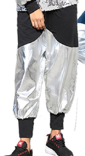 Men Women Hip hop Jazz Dance Jacket And Pants 2pcs Sets Clothingwwetoro-wwetoro
