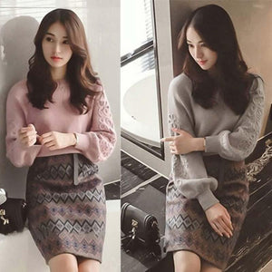 Winter Sweater Women Suits 2018 Beaded Kniting Pullover and Sweater Women Vintagewwetoro-wwetoro