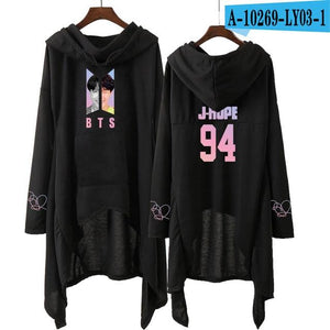 Drop shopping dress fashion 2018 women Hooded sweatshirt SUGA JINwwetoro-wwetoro