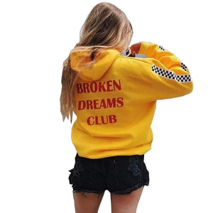 Warm Autumn Winter Women Broken Dreams Club Race Hooded Hoodie Sweatshirt Pulloverwwetoro-wwetoro